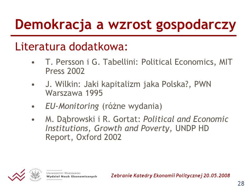 Demokracja a wzrost gospodarczy