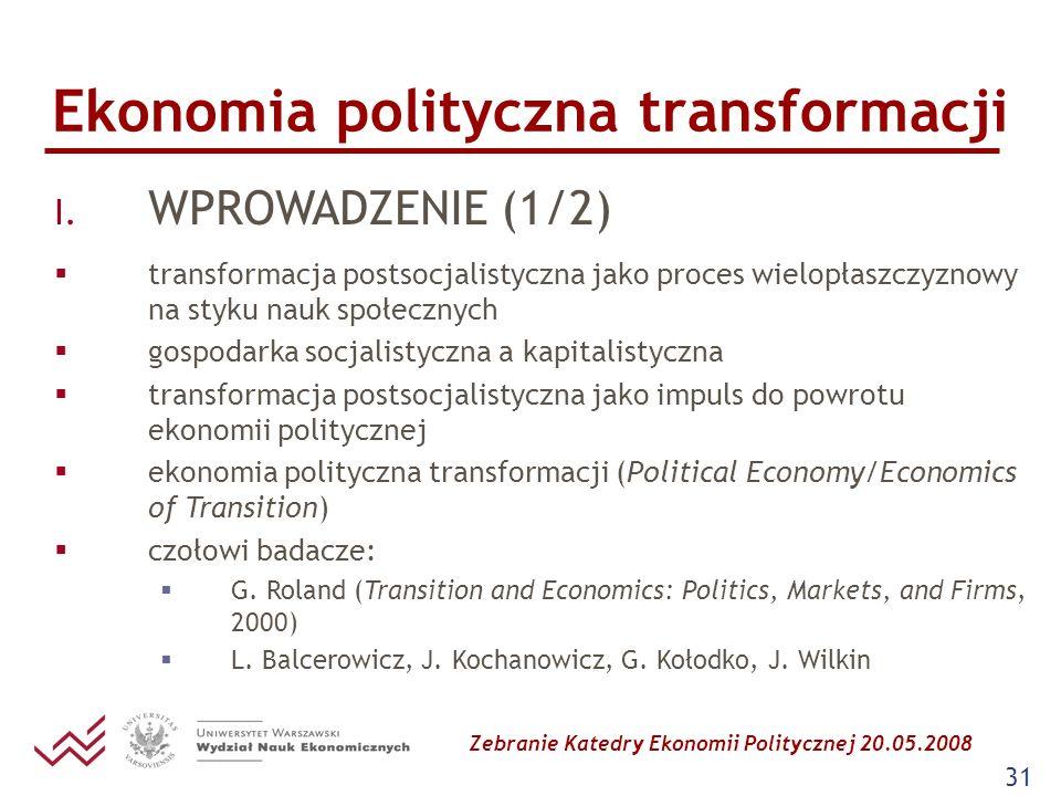 Ekonomia polityczna transformacji