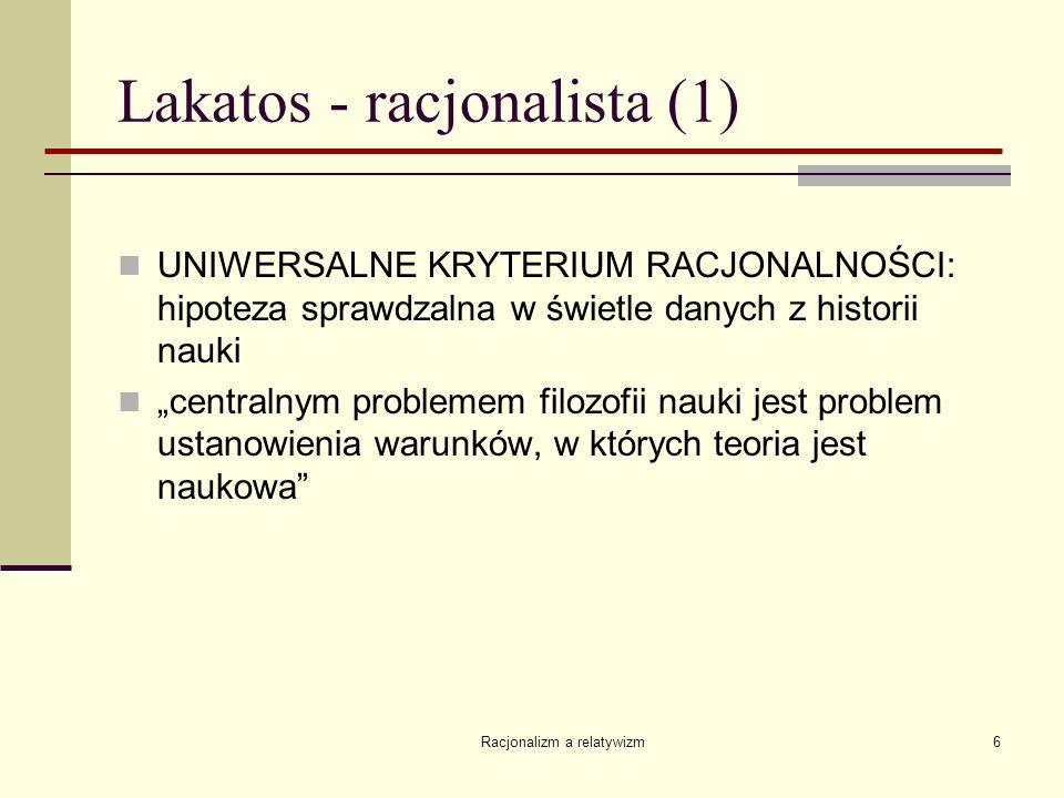 Lakatos - racjonalista (1)