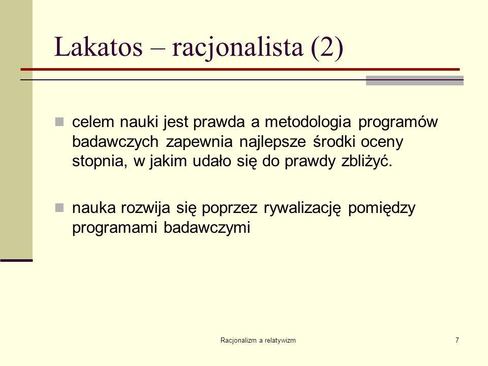 Lakatos – racjonalista (2)