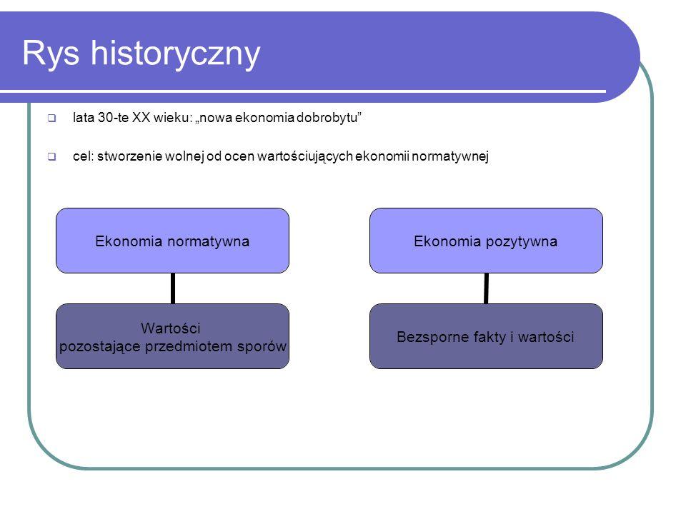 """Rys historyczny lata 30-te XX wieku: """"nowa ekonomia dobrobytu"""