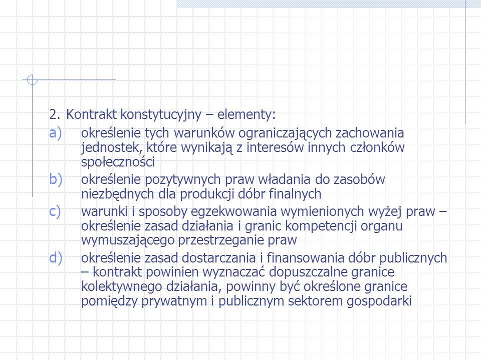 2. Kontrakt konstytucyjny – elementy: