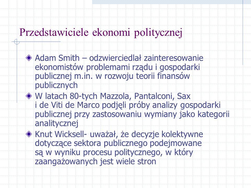 Przedstawiciele ekonomi politycznej