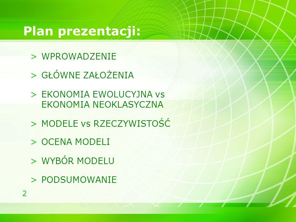 Plan prezentacji: WPROWADZENIE GŁÓWNE ZAŁOŻENIA