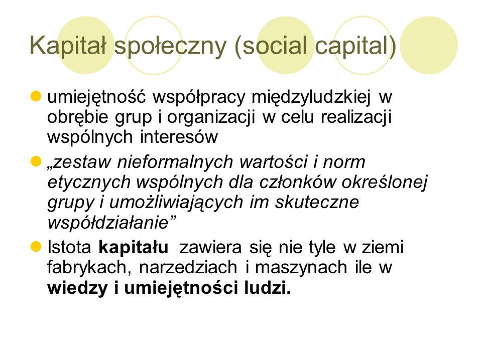 Kapitał społeczny (social capital)