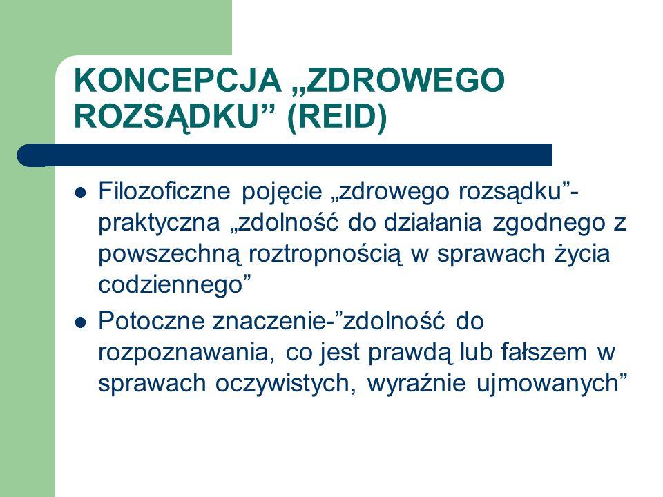 """KONCEPCJA """"ZDROWEGO ROZSĄDKU (REID)"""
