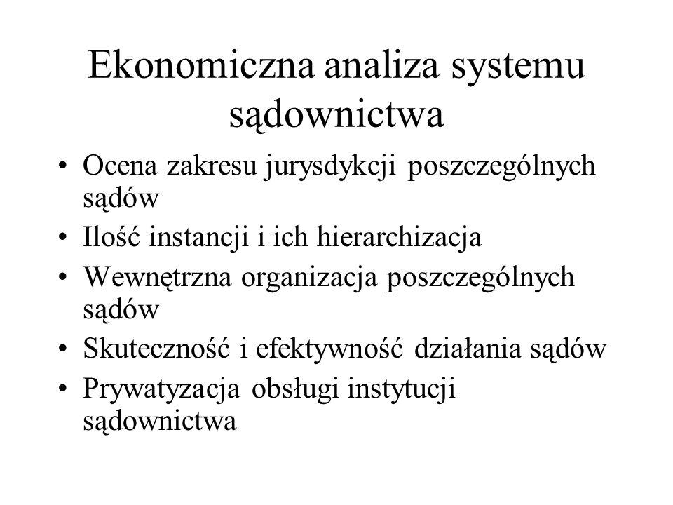 Ekonomiczna analiza systemu sądownictwa