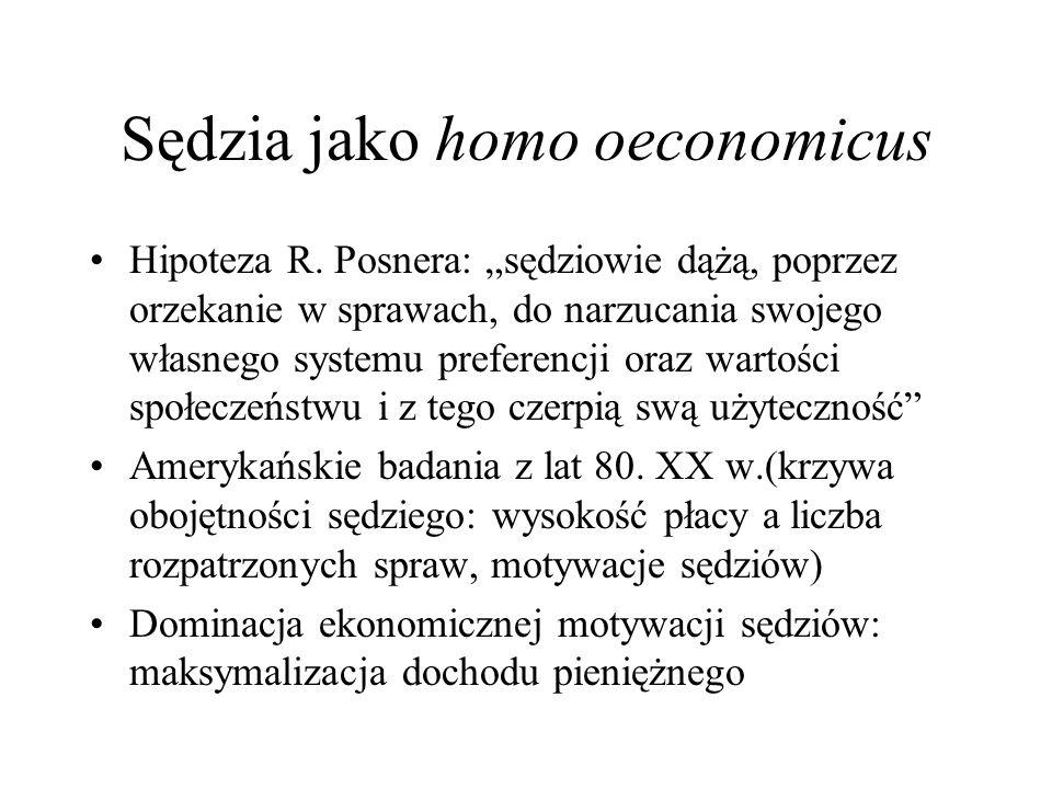 Sędzia jako homo oeconomicus