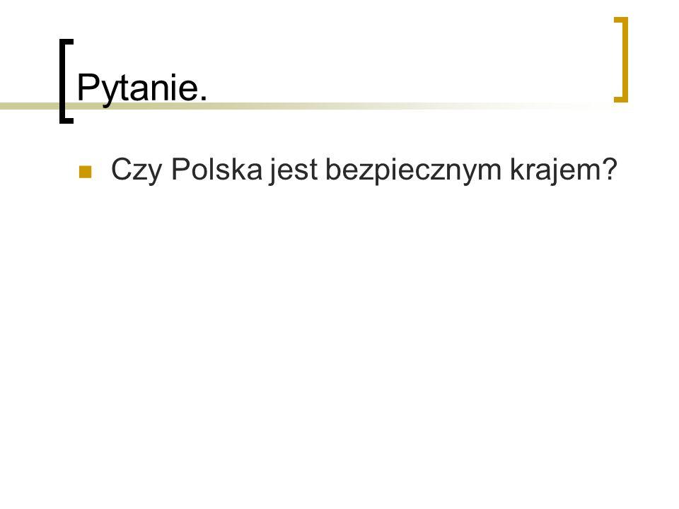 Pytanie. Czy Polska jest bezpiecznym krajem