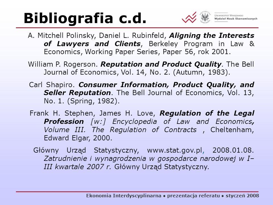 Bibliografia c.d.