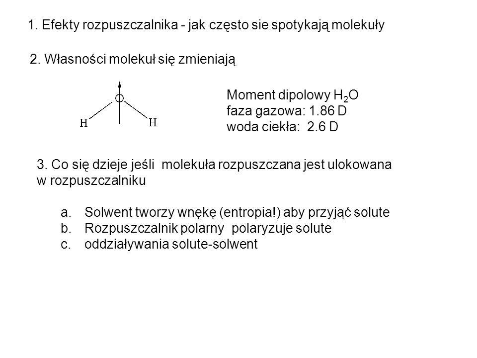 1. Efekty rozpuszczalnika - jak często sie spotykają molekuły