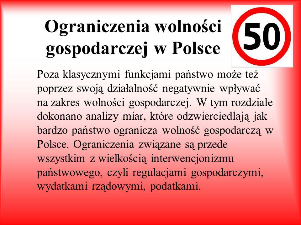 Ograniczenia wolności gospodarczej w Polsce