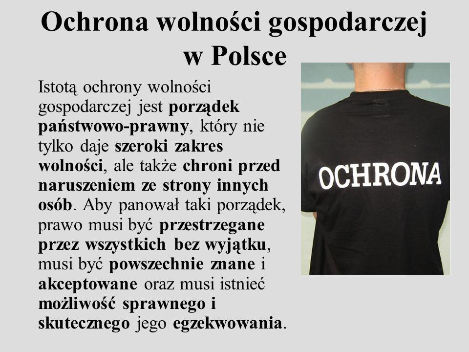 Ochrona wolności gospodarczej w Polsce