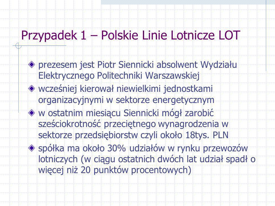 Przypadek 1 – Polskie Linie Lotnicze LOT