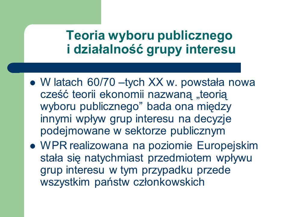 Teoria wyboru publicznego i działalność grupy interesu