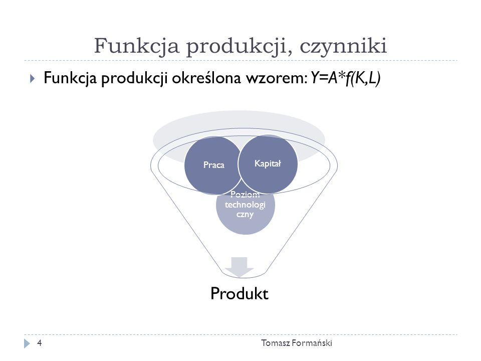 Funkcja produkcji, czynniki