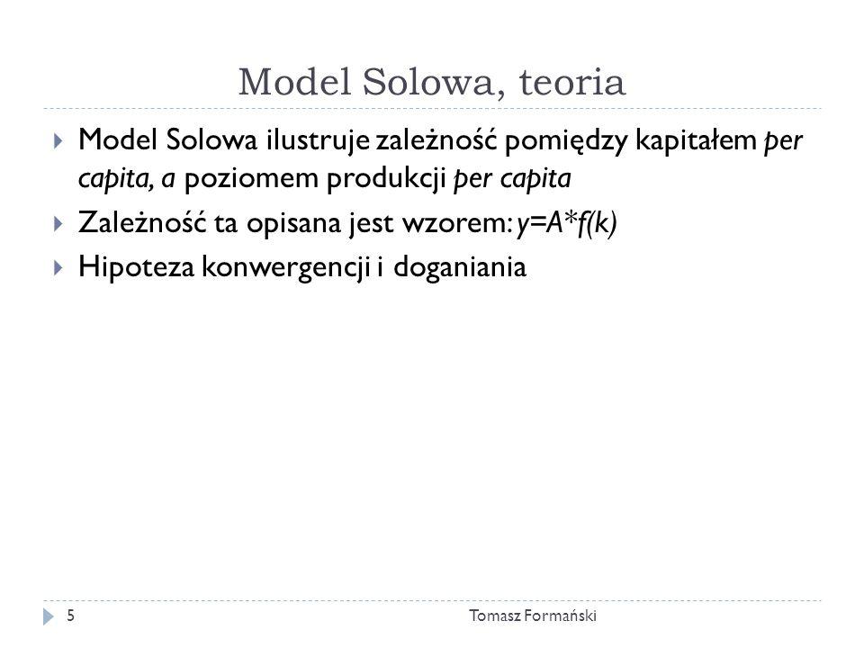 Model Solowa, teoria Model Solowa ilustruje zależność pomiędzy kapitałem per capita, a poziomem produkcji per capita.