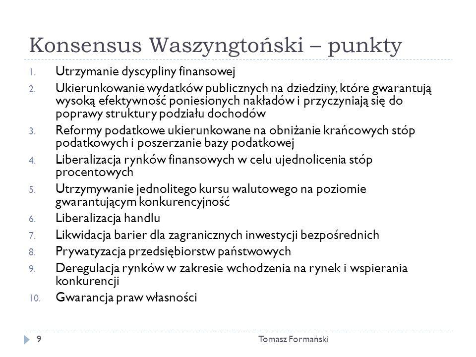 Konsensus Waszyngtoński – punkty