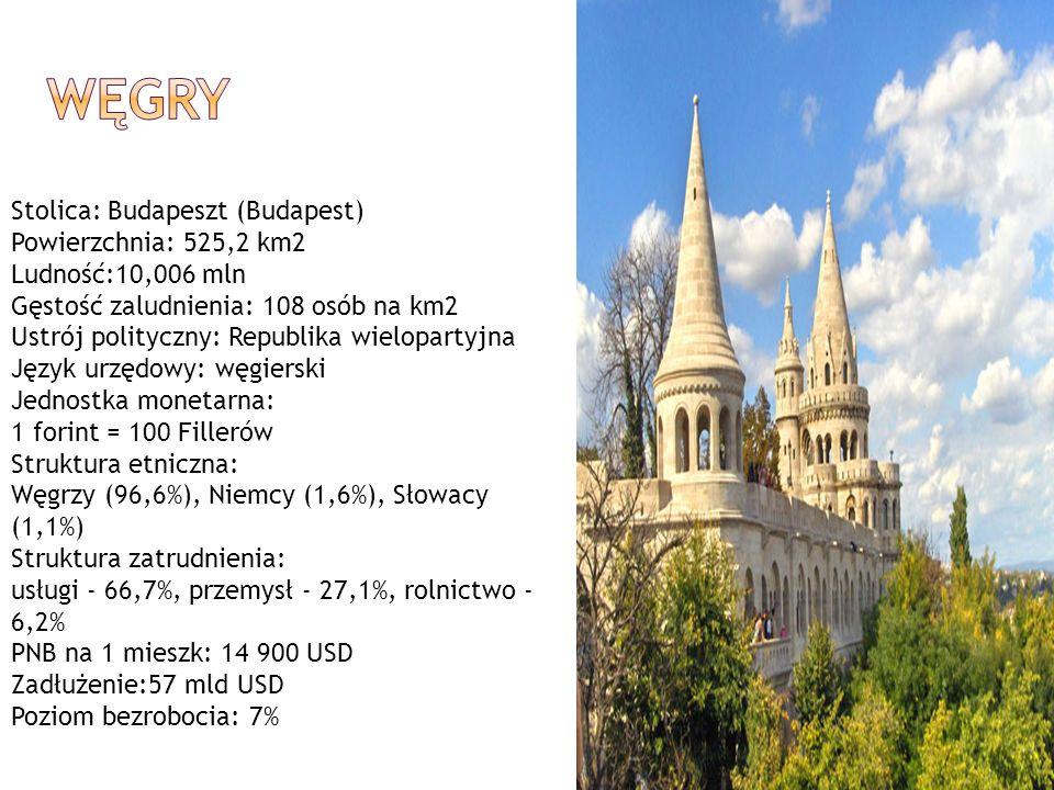 WĘGRY Stolica: Budapeszt (Budapest) Powierzchnia: 525,2 km2