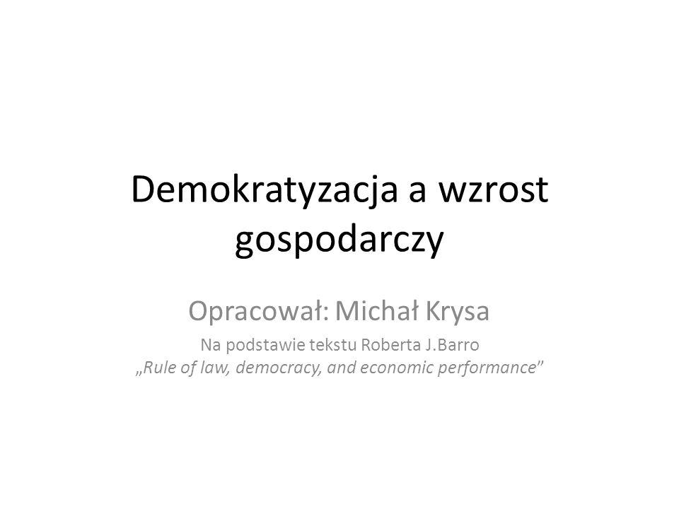 Demokratyzacja a wzrost gospodarczy