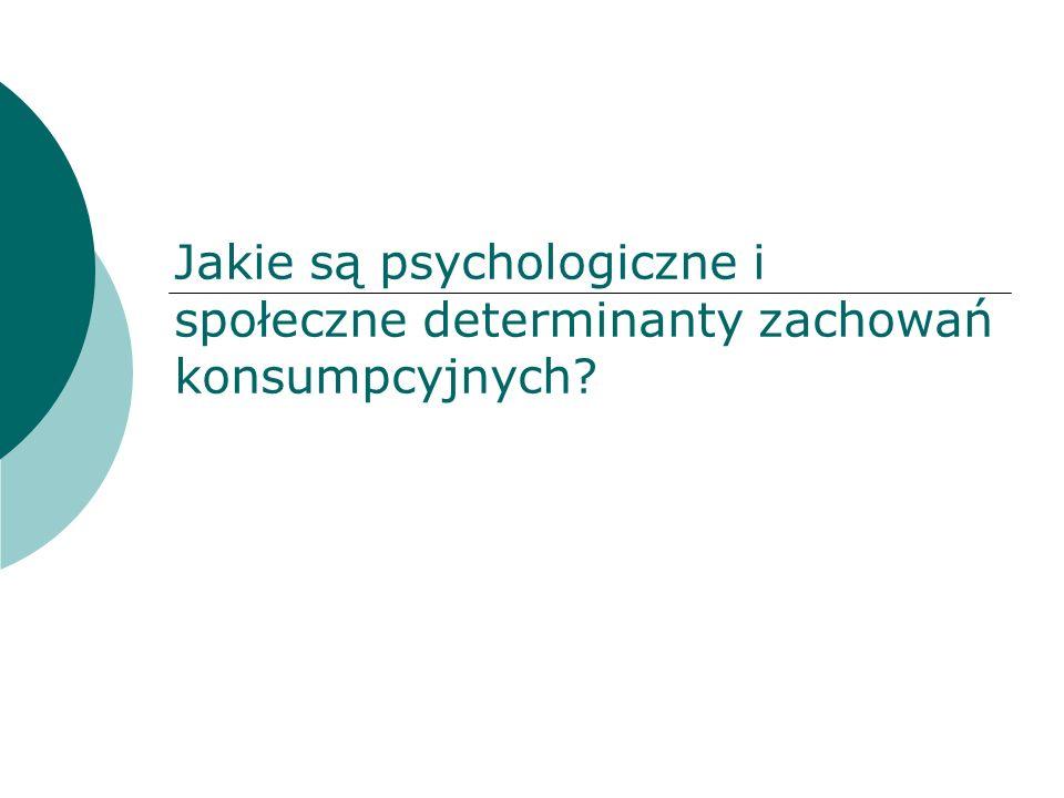 Jakie są psychologiczne i społeczne determinanty zachowań konsumpcyjnych