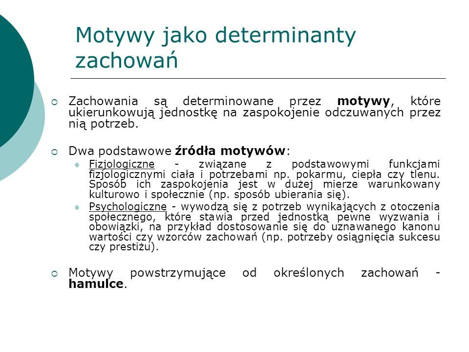 Motywy jako determinanty zachowań