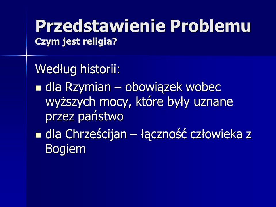 Przedstawienie Problemu Czym jest religia