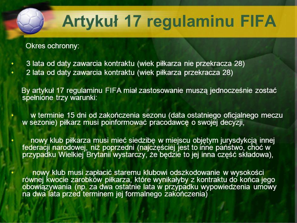Artykuł 17 regulaminu FIFA