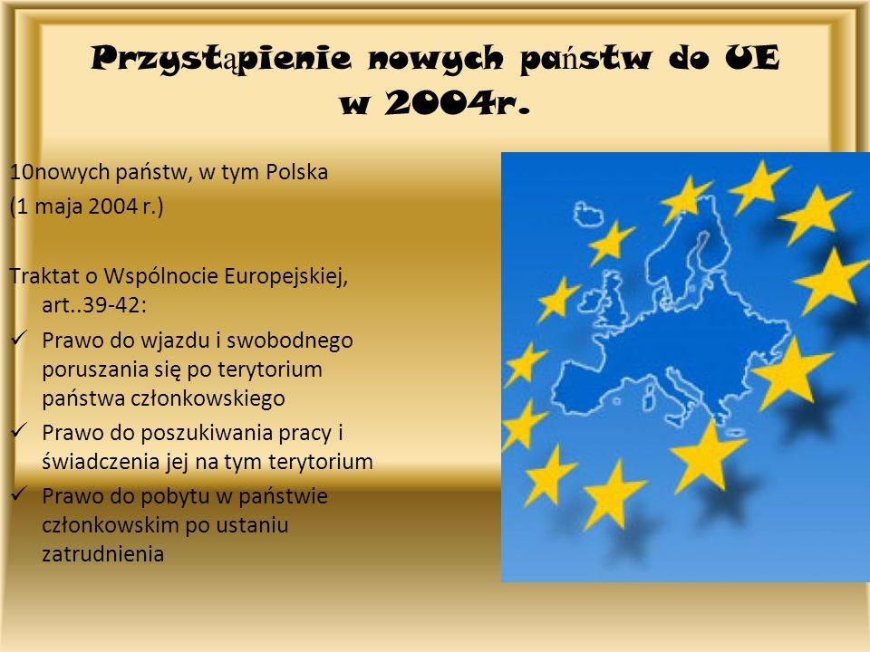 Przystąpienie nowych państw do UE w 2004r.