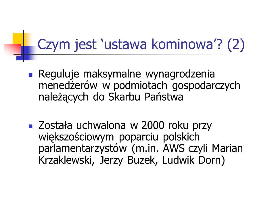 Czym jest 'ustawa kominowa' (2)