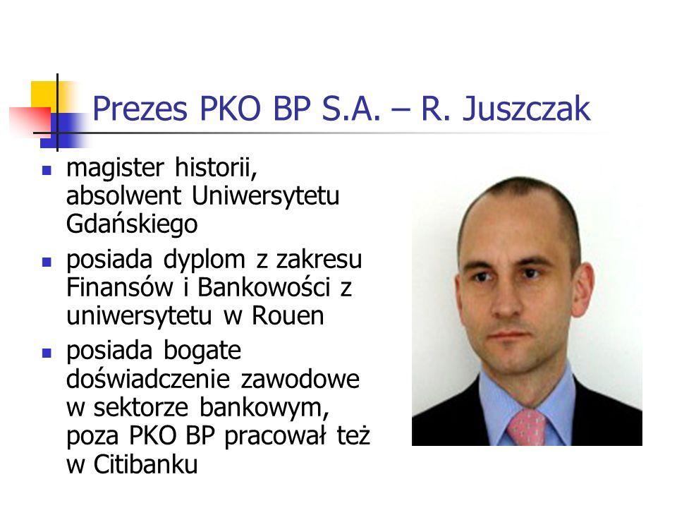 Prezes PKO BP S.A. – R. Juszczak