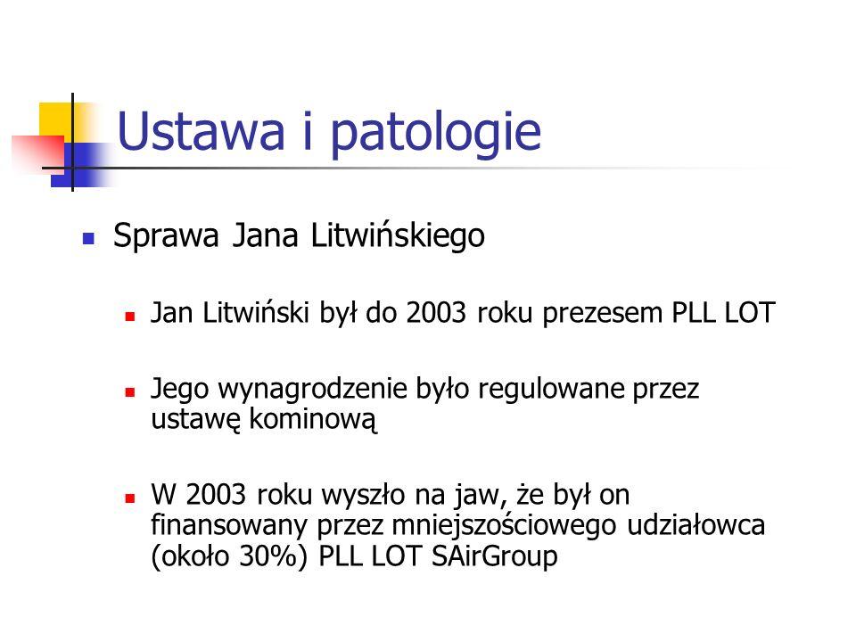Ustawa i patologie Sprawa Jana Litwińskiego