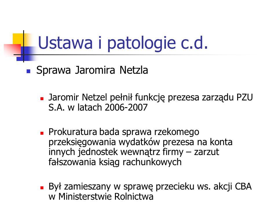 Ustawa i patologie c.d. Sprawa Jaromira Netzla