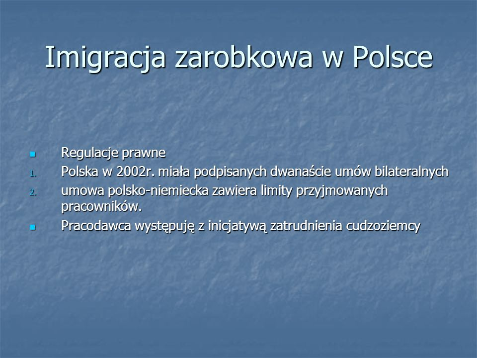 Imigracja zarobkowa w Polsce