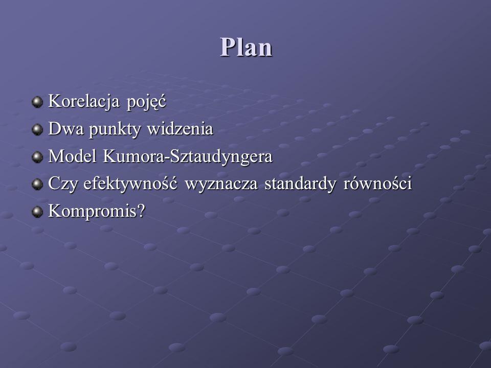 Plan Korelacja pojęć Dwa punkty widzenia Model Kumora-Sztaudyngera