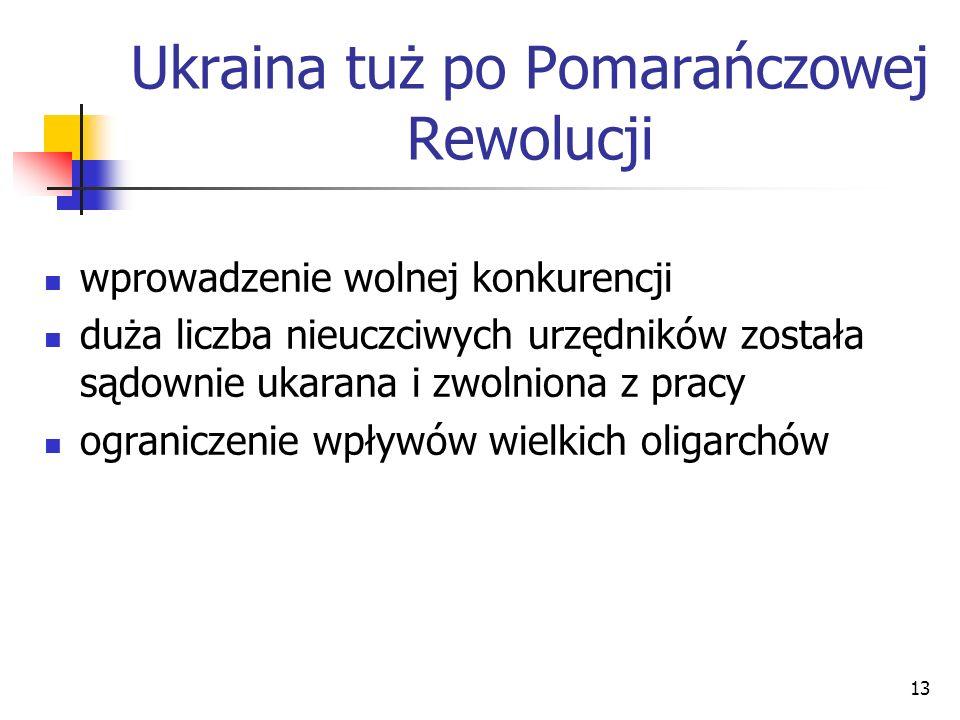 Ukraina tuż po Pomarańczowej Rewolucji