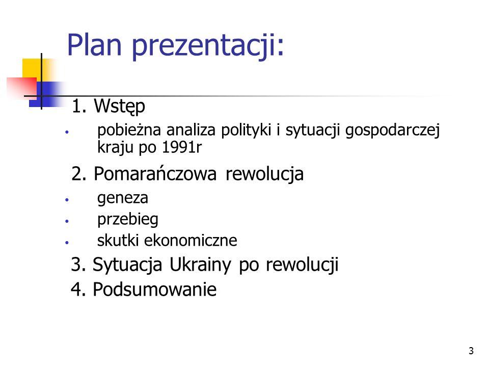 Plan prezentacji: 1. Wstęp 2. Pomarańczowa rewolucja