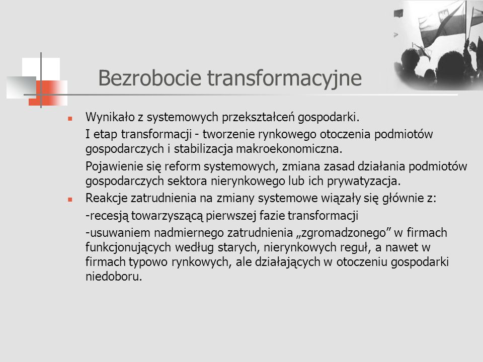 Bezrobocie transformacyjne