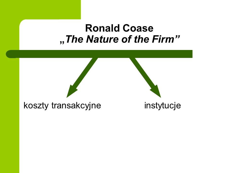 "Ronald Coase ""The Nature of the Firm"