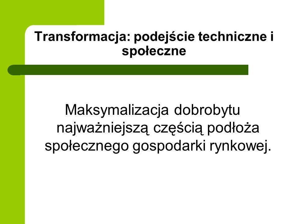 Transformacja: podejście techniczne i społeczne