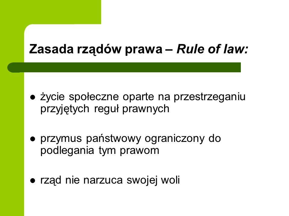 Zasada rządów prawa – Rule of law: