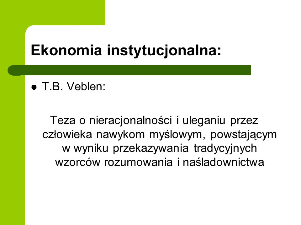 Ekonomia instytucjonalna:
