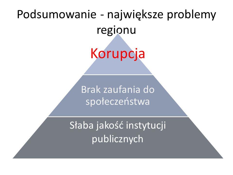 Podsumowanie - największe problemy regionu