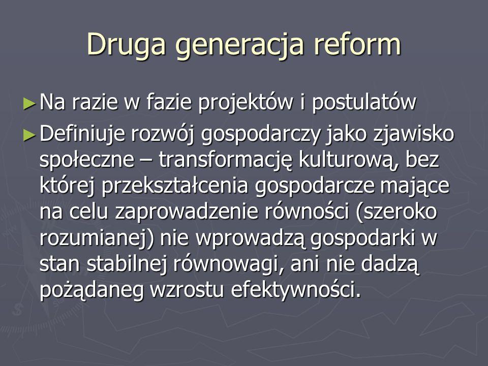 Druga generacja reform
