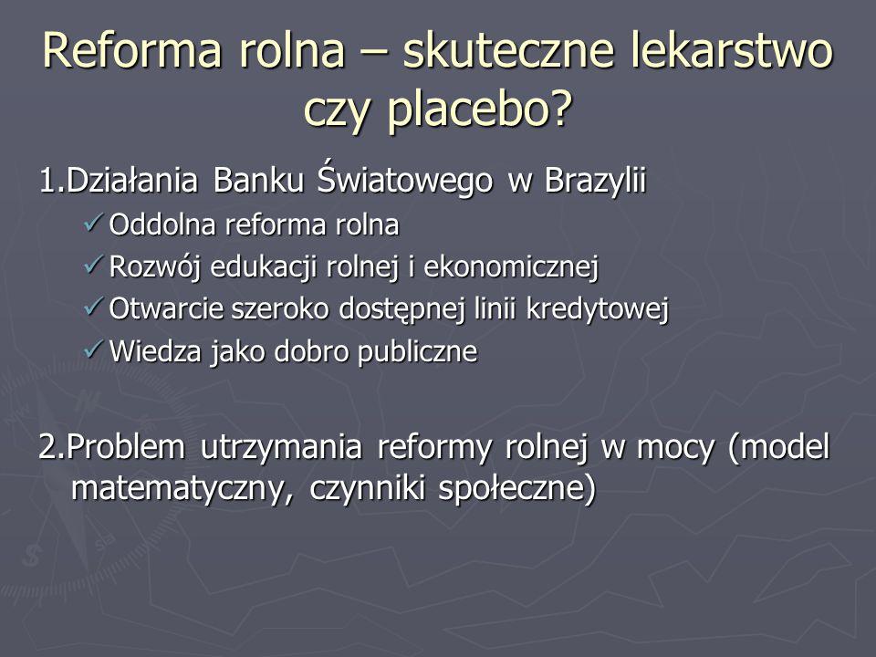 Reforma rolna – skuteczne lekarstwo czy placebo