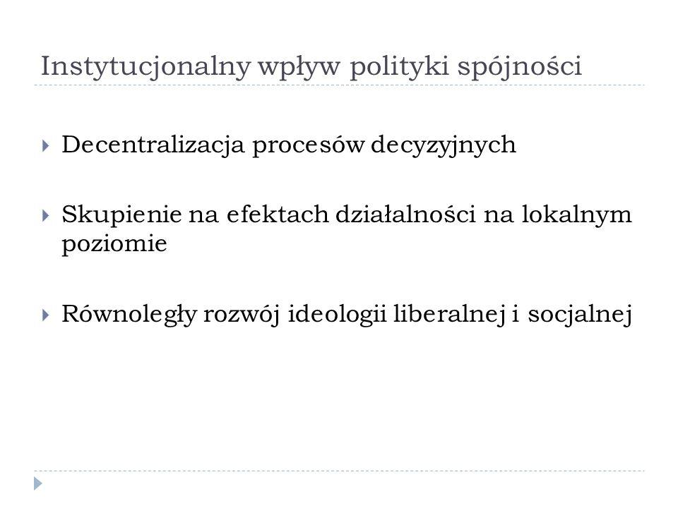 Instytucjonalny wpływ polityki spójności