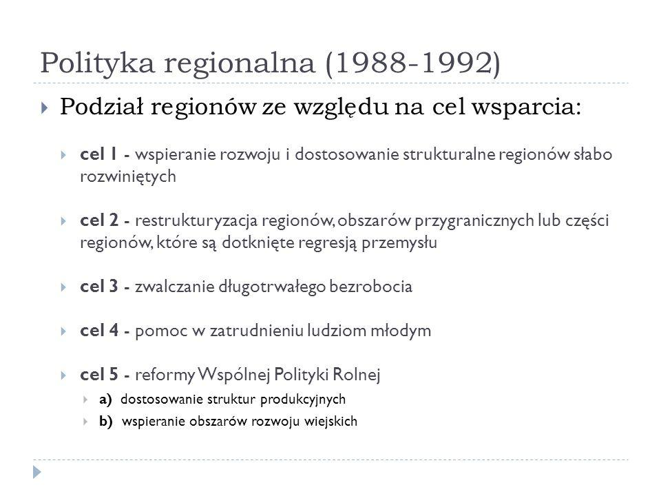 Polityka regionalna (1988-1992)