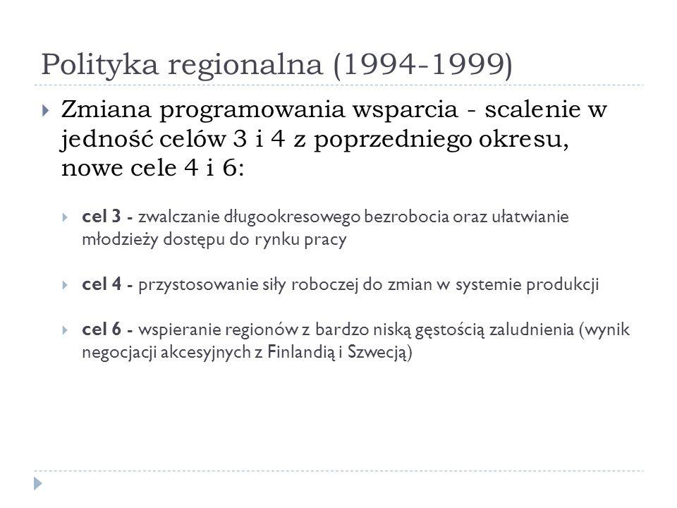 Polityka regionalna (1994-1999)