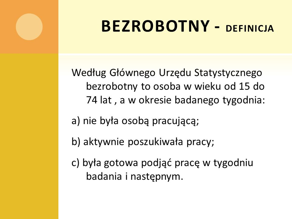 BEZROBOTNY - definicja