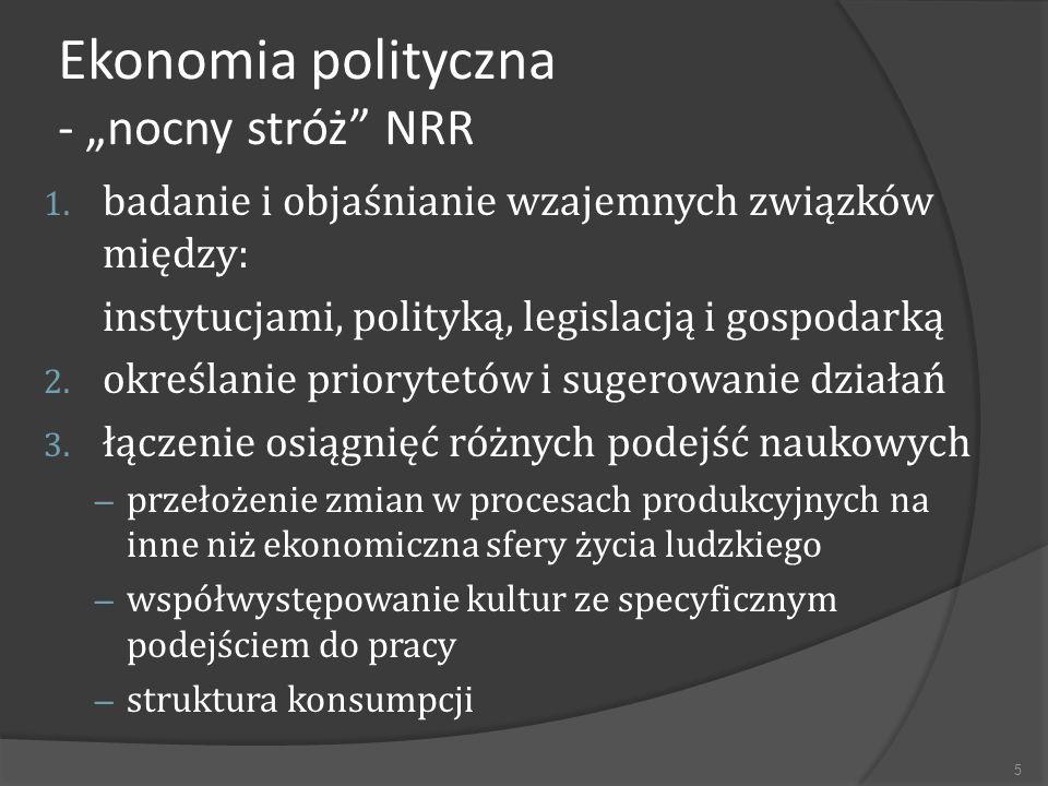 """Ekonomia polityczna - """"nocny stróż NRR"""